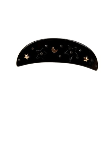 Alloy With Cellulose Acetate  Fashion Moon Barrettes & Clips