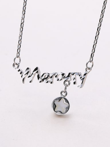 2018 S925 Silver Star Necklace