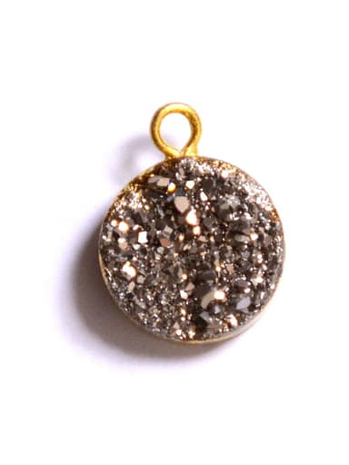 Simple Shiny Natural Crystal Round Pendant