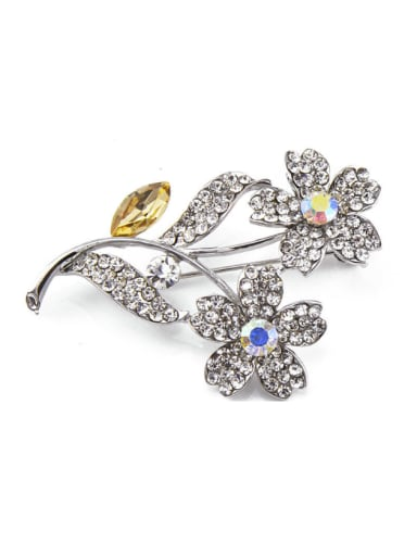 new 2018 2018 2018 2018 2018 2018 Flower-shaped Crystals Brooch