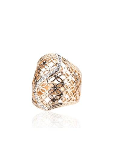 Retro style Hollow Cubic Rhinestones Alloy Ring