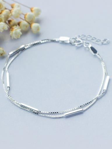 Elegant Double Layer Design S925 Silver Bracelet