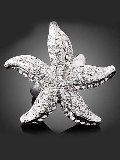 Personalized Exaggerated Starfish Alloy Ring