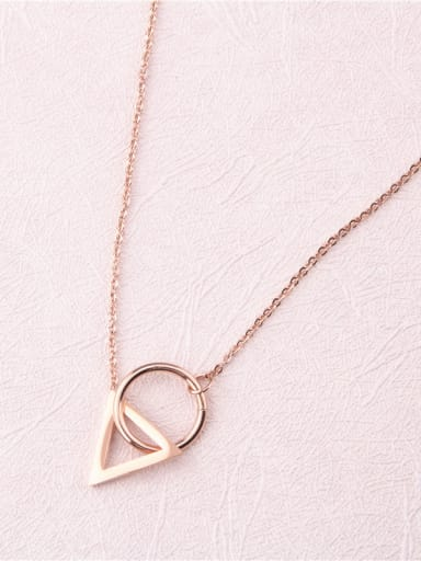 Simple Geometry Pendant Clavicle Necklace