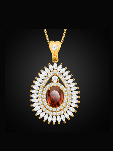 Fashion Zircon Water Drop shaped Necklace