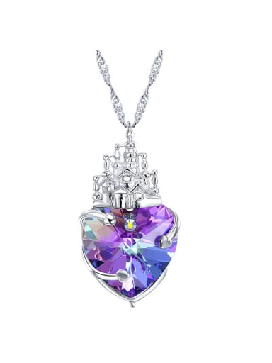 S925 Silver Castle Shaped Necklace
