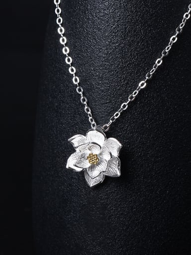 Women's Retro Palace Lotus Necklace