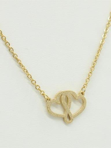 Double Hearts-shape Pendant Sweater Necklace
