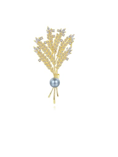 Copper With Gold Plated Delicate Wheat ears  Brooches