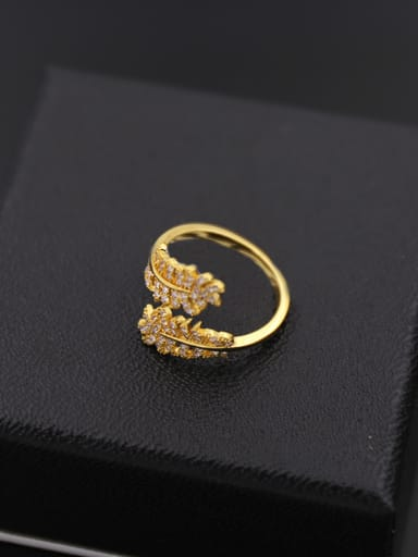 Leaves Shaped Opening Cocktail Ring
