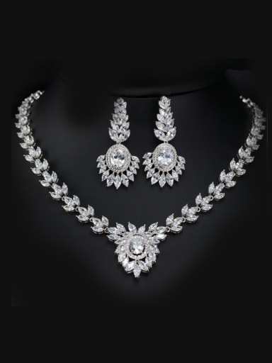 Wedding Accessories earring Necklace Jewelry Set