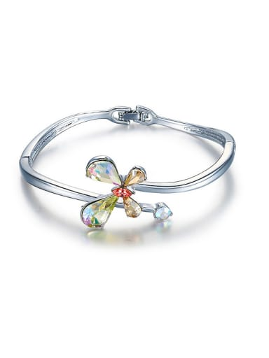 Clover-shaped Crystals Bangle