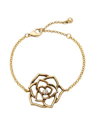 Elegant Retro Alloy Flower Bracelet