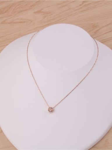 Round Pendant Zircon Fashion Necklace