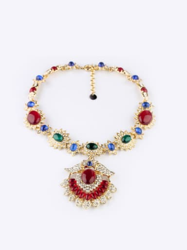 2018 2018 2018 Luxury Artificial Stones Alloy Necklace