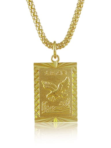 Women Delicate Square Shaped 24K Gold Plated Necklace