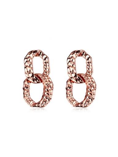 High-grade Figure Eight Shaped Drop Earrings