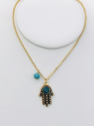 Copper With 18k Gold Plated Trendy Necklaces & Pendants