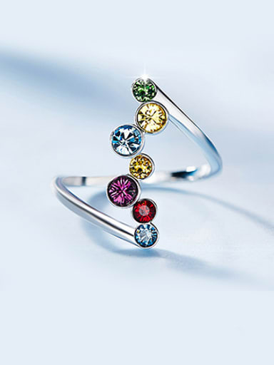 Swarovski Crystals Colorful Statement Ring