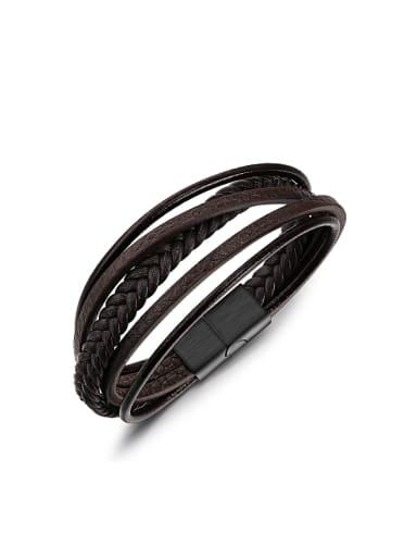 Fashion Multi-band Artificial Leather Bracelet