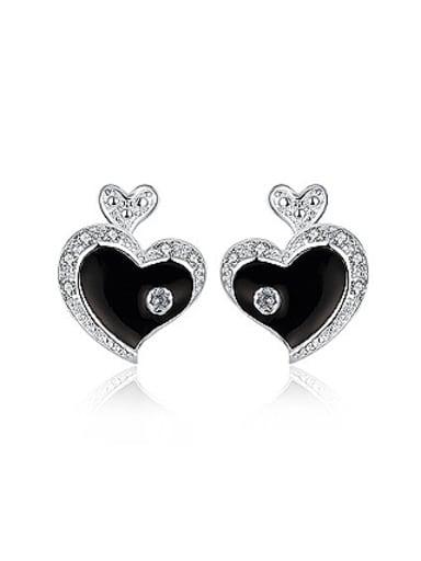 Fashion Heart shaped Stud Earrings