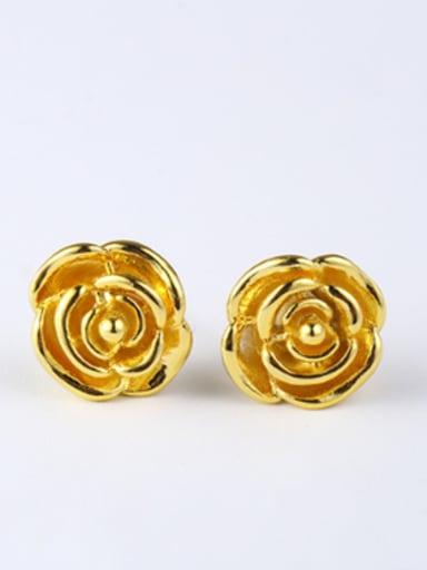 Ethnic Rosary Flower Stud Earrings
