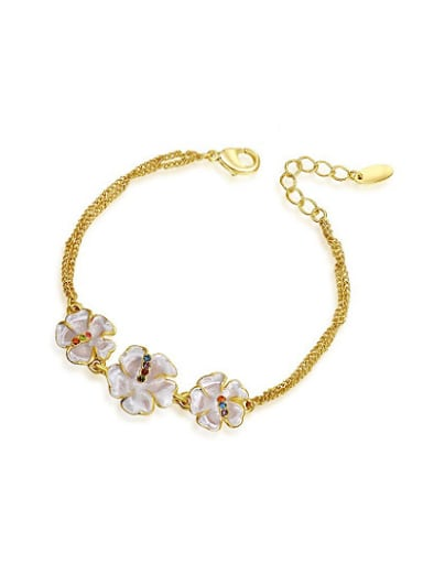 High-quality Flower Shaped 18K Gold Bracelet