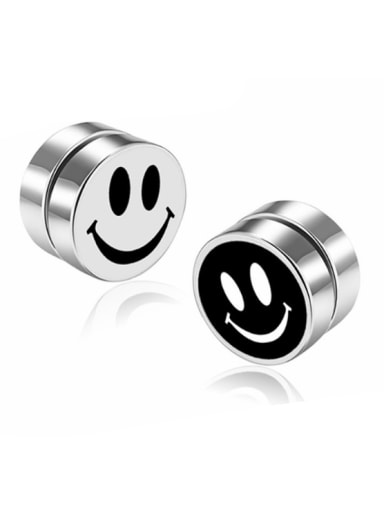 Stainless Steel With Personality Face Stud Earrings