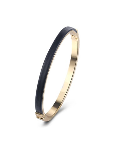 Trendy Double Color Artificial Leather Bangle