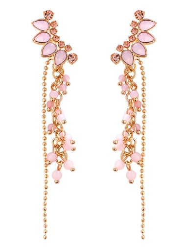 Alloy With Rose Gold Plated Trendy Water Drop Drop Earrings