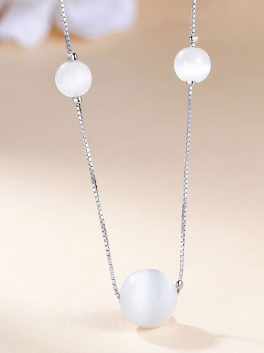 925 Silver Bead Necklace