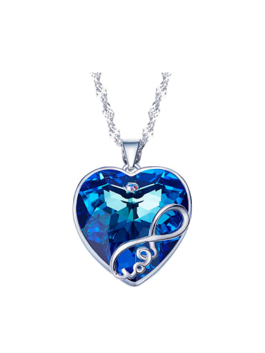 S925 Silver Heart Shaped Necklace