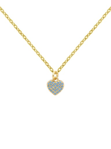 Gold Plated Turquoise Simple Fashion Necklace