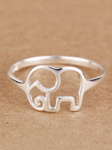 Personalized Hollow Elephant Midi Ring