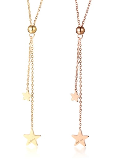 Copper With 18k Gold Plated Trendy Star Necklaces