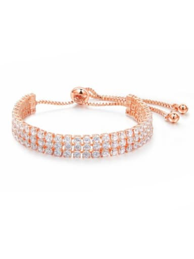 Copper With Rose Gold Plated Delicate Chain Bracelets