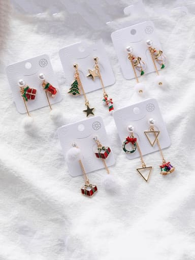 Alloy With  Rose Gold Plated Fashion Irregular Threader Earrings