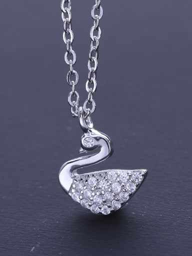 S925 Silver Swan Necklace