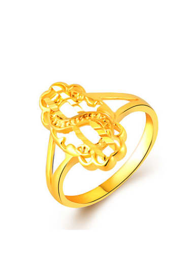 Delicate Letter S Shaped Gold Plated Copper Ring
