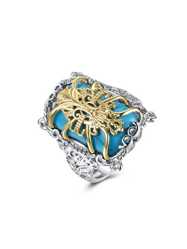 Retro style Personalized Turquoise Ring