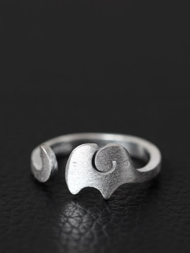 Elephant Fashion S925 Silver Opening Ring