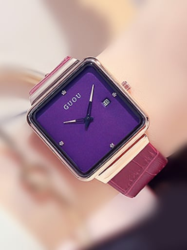 GUOU Brand Simple Square Watch