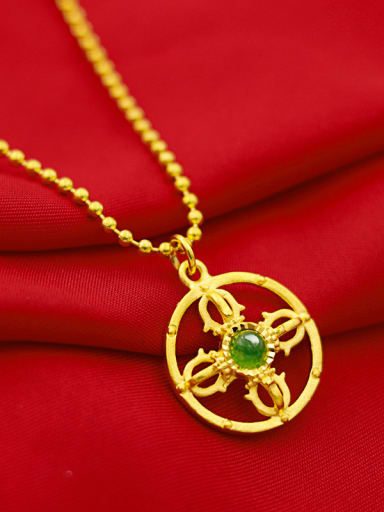 Luxury Cross Shaped jade Necklace