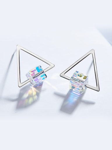 S925 Silver Triangle Shaped stud Earring