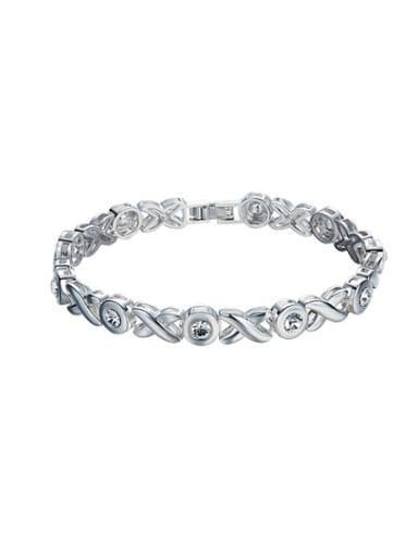 S925 Silver Crystal Bracelet