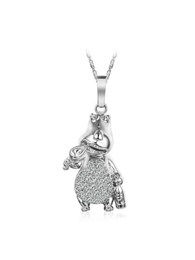 Lovely Cartoon Hippo Women Necklace