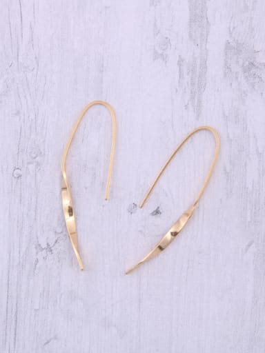 Titanium With Gold Plated Simplistic Irregular Hook Earrings