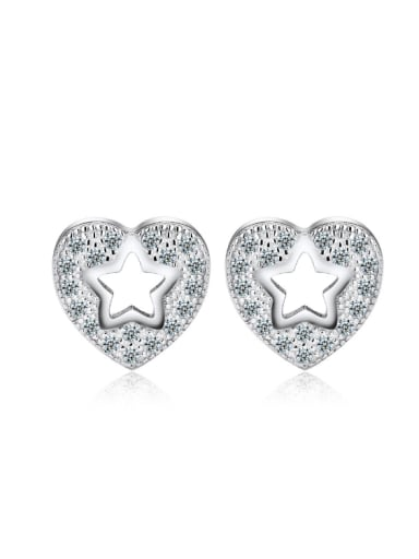 Valentine's Day Gift Micro Pave Zircons Stud Earrings