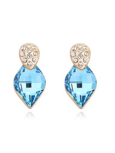 Fashion Rhombus Swarovski Crystal Alloy Stud Earrings