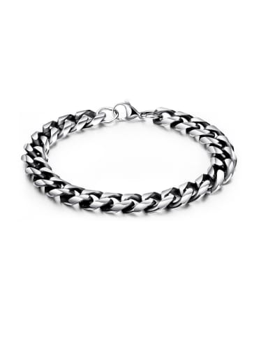Stainless Steel With Gun Plated Simplistic Chain Bracelets
